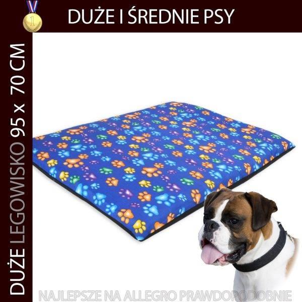 Legowisko dla psa duże typu mata niebieskie
