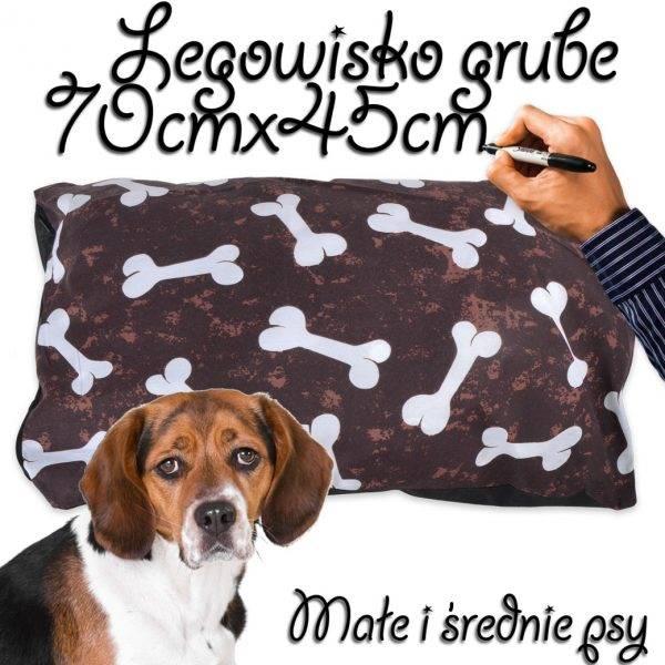 Legowisko dla psa średnie grube brązowe