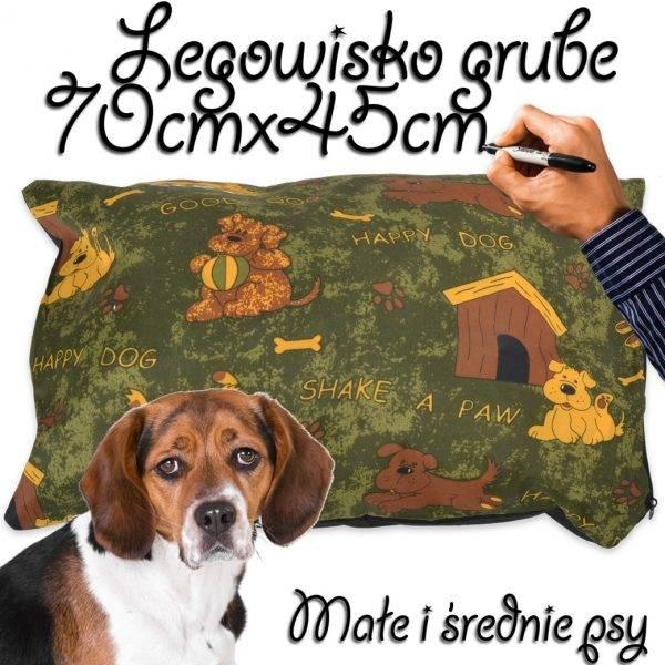 Legowisko dla psa średnie grube zielone