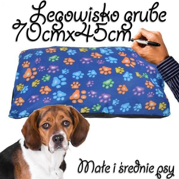 Legowisko dla psa średnie grube niebieskie