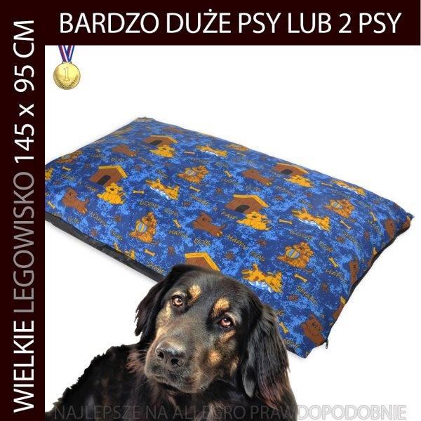 Legowisko dla psa bardzo duże niebieskie