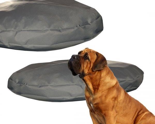 Legowisko okrągłe wodoodporne dla psów siwe XL