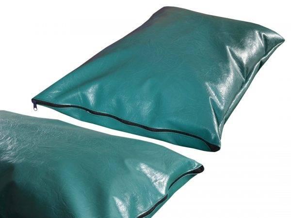 Poduszka ekoskóra legowisko dla psa zielona