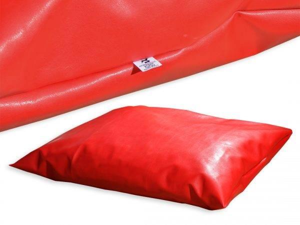 Poduszka ekoskóra legowisko dla psa czerwona