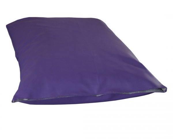 Poduszka ekoskóra legowisko dla psa fiolet
