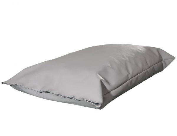 Poduszka ekoskóra legowisko dla psa siwa z rzepem L
