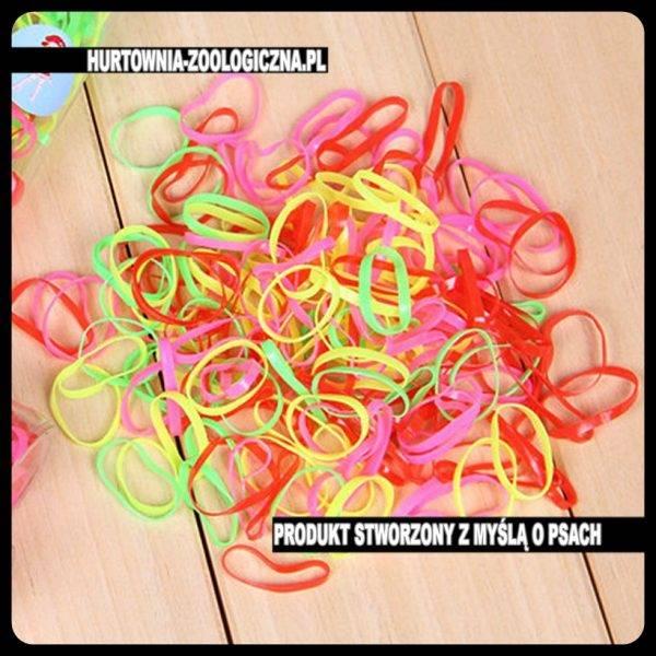 hurtownia zoologiczna akcesoria groomerskie gumki dla psa kolorowe