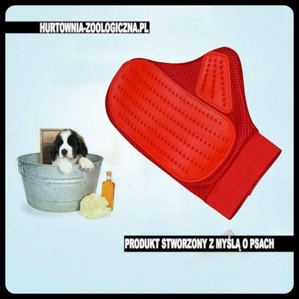 hurtownia zoologiczna rękawica do kąpieli dla psa kota. Rozczesuje splątaną sierść