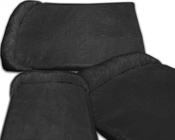 Legowisko ortalionowe typu protektor na kanapę lub fotel dla psów czarne