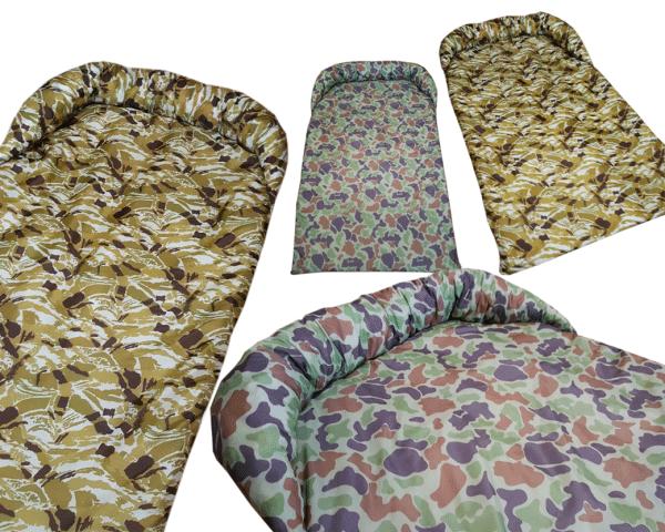 Legowisko ortalionowe typu protektor na kanapę lub fotel moro piaskowe leśne