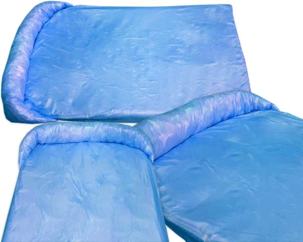Legowisko ortalionowe typu protektor na kanapę lub fotel dla psów niebieskie