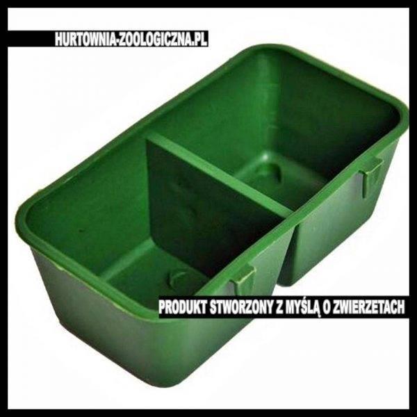 sklep zoologiczny akcesorium karmidełko podwójne zielone do klatki chomik mysz papuga