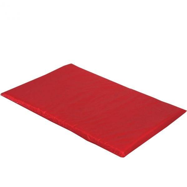 mata dla psa do spania kolorowa czerwona