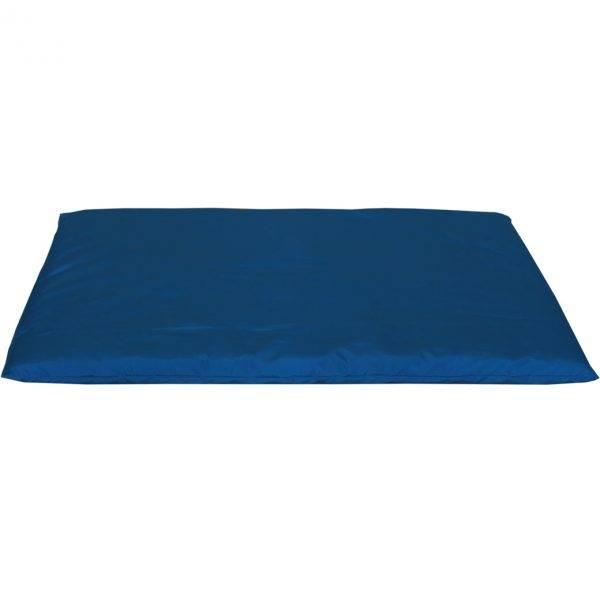 mata dla psa do spania kolorowa niebieska