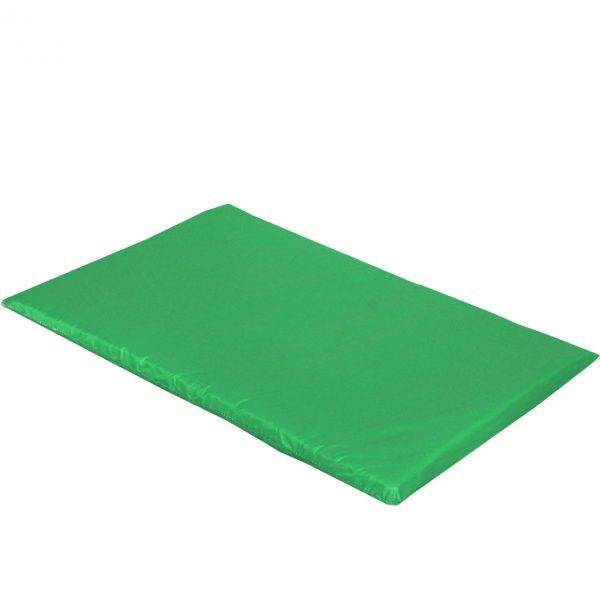 mata dla psa do spania kolorowa zielona