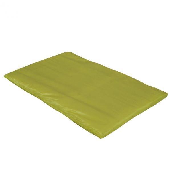 mata dla psa do spania kolorowa żółta