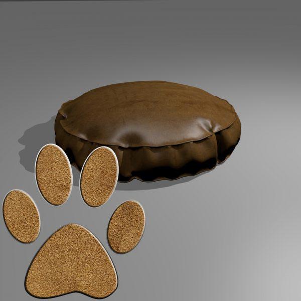 Okrągłe legowisko zamszowe dla psów