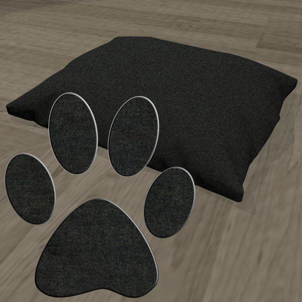 Poduszka legowisko dla psa jeans czarny