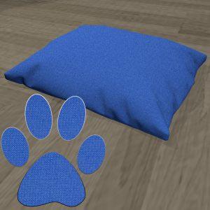 Poduszka legowisko dla psa nylon niebieski