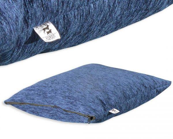 Poduszka legowisko dla psa welur niebieski