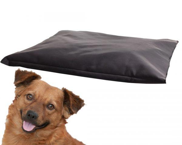 Poduszka zamszowa legowisko dla psa czarne duże