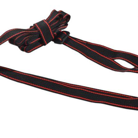 Smycz treningowa 2 w 1 z obrożą 3m 25mm czarna z czerwonym paskiem