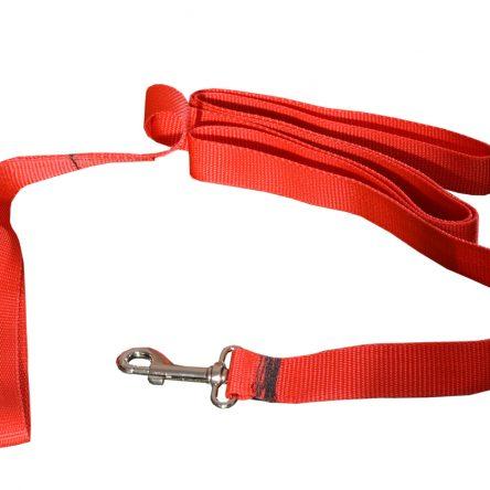 Tradycyjna smycz dla psa czerwona