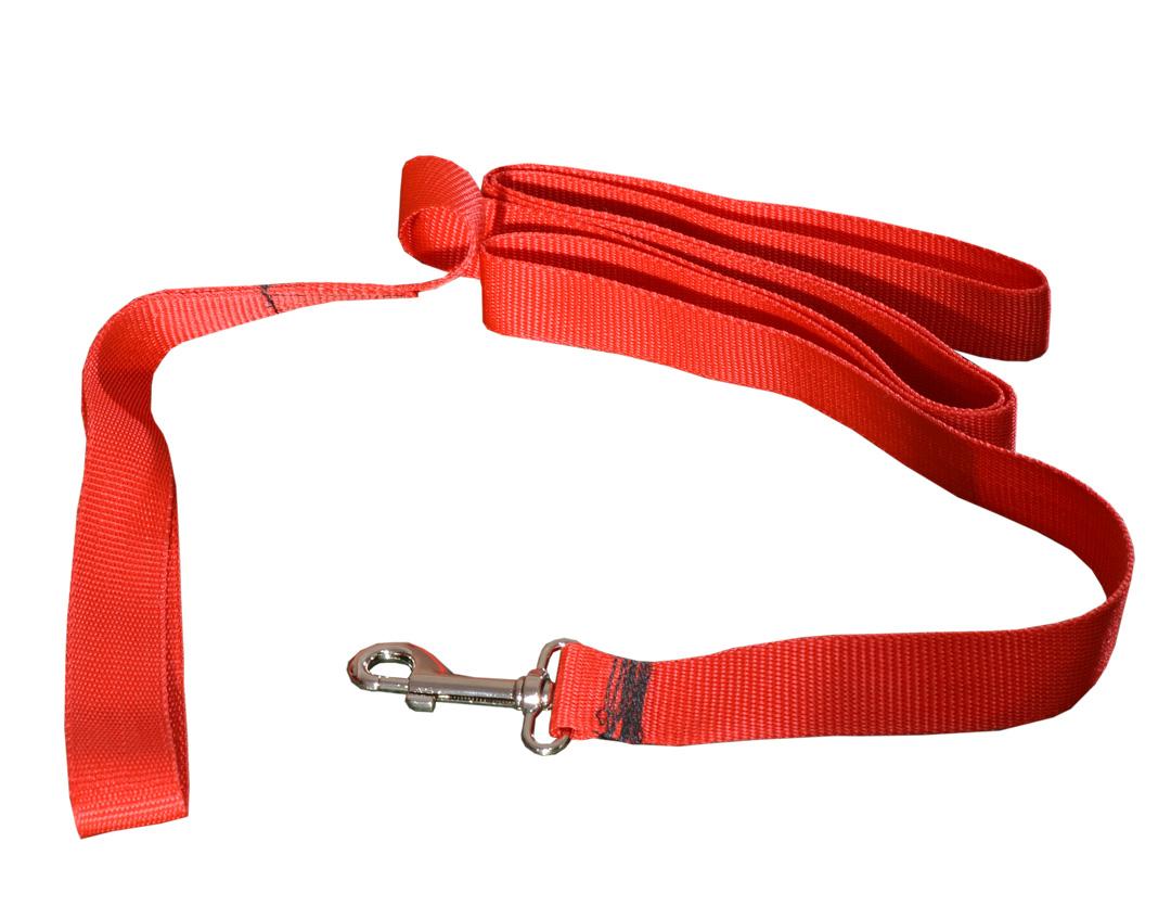 4b44774204eca2 Tradycyjna smycz dla psa czerwona - Tani sklep zoologiczny Szczecin