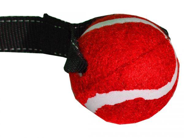 Zabawka dla psa piłka na taśmie