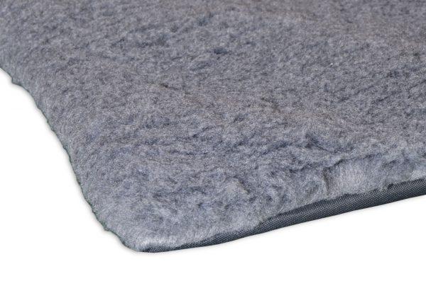 Mata miękkie futro dla psa siwe duże