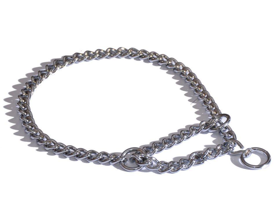 Obroża Metalowa Dla Psa Łańcuch 40-50cm Srebrny