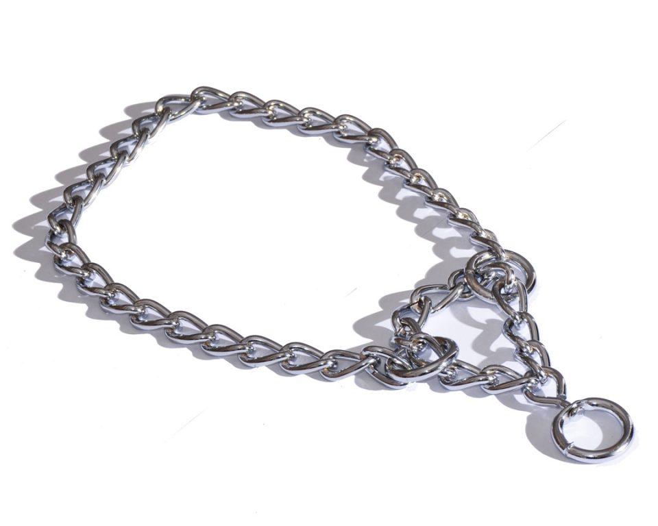 Obroża Metalowa Dla Psa Łańcuch 50-60cm Srebrny