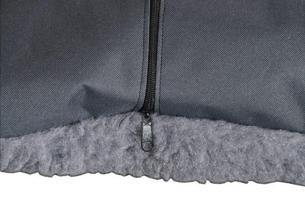 Poduszka futrzasta dla psa zapinana na zamek
