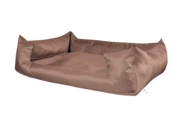 Legowisko kanapa z wejściem wodoodporna dla psa brązowa