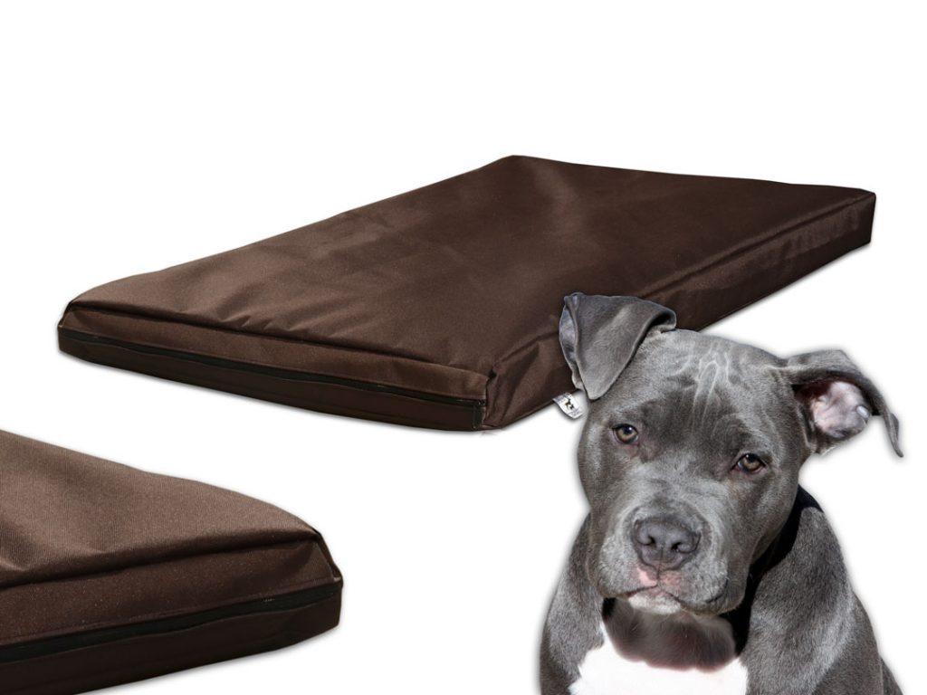 Materac premium quality dla psa wodoodporny z gąbką brązowy