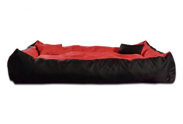 Legowisko kanapa dwukolorowa dla psa czerwono czarna
