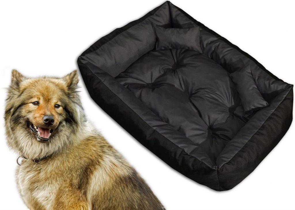 Legowisko kanapa dwukolorowa dla psa z przepikowaniem – Jadelit