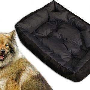 Legowisko kanapa dwukolorowa dla psa z przepikowaniem