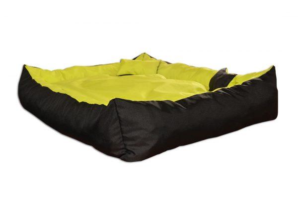 Legowisko kanapa dwukolorowa dla psa zielono czarna
