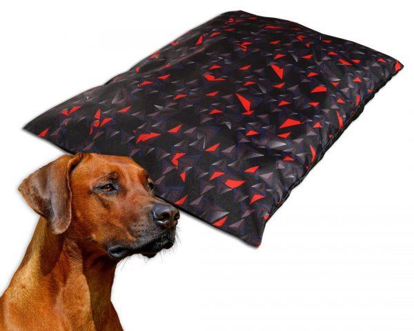 Poduszka dla psa nowoczesny wzór romby