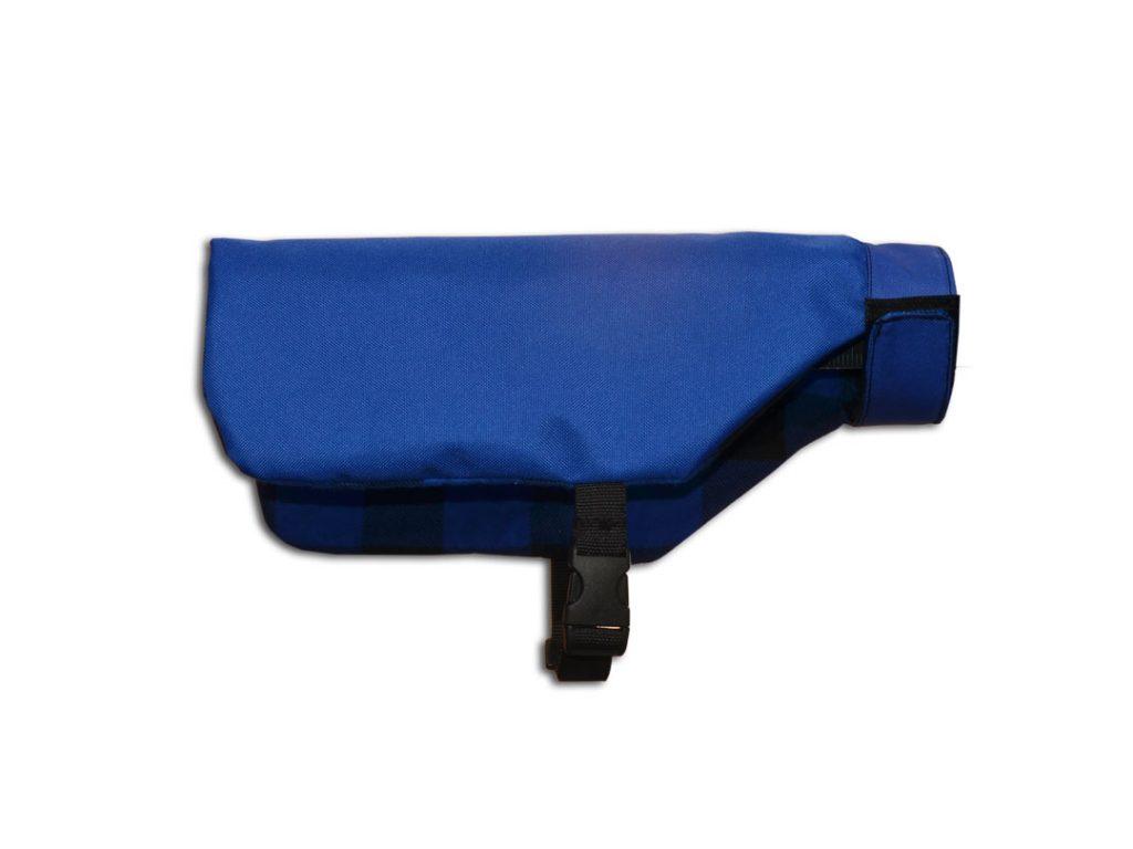 Wodoodporny ocieplony płaszcz dla psa niebieski