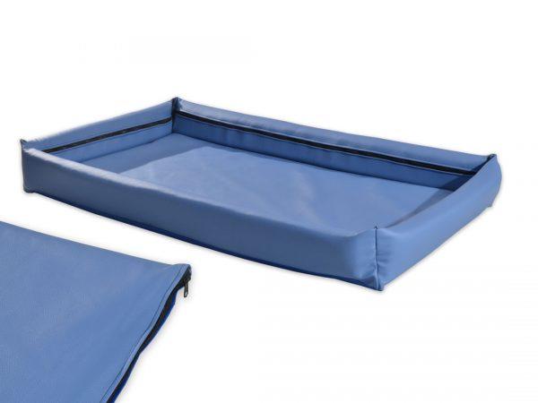 Legowisko kanapa ekoskóra dla psa Merkury niebieska